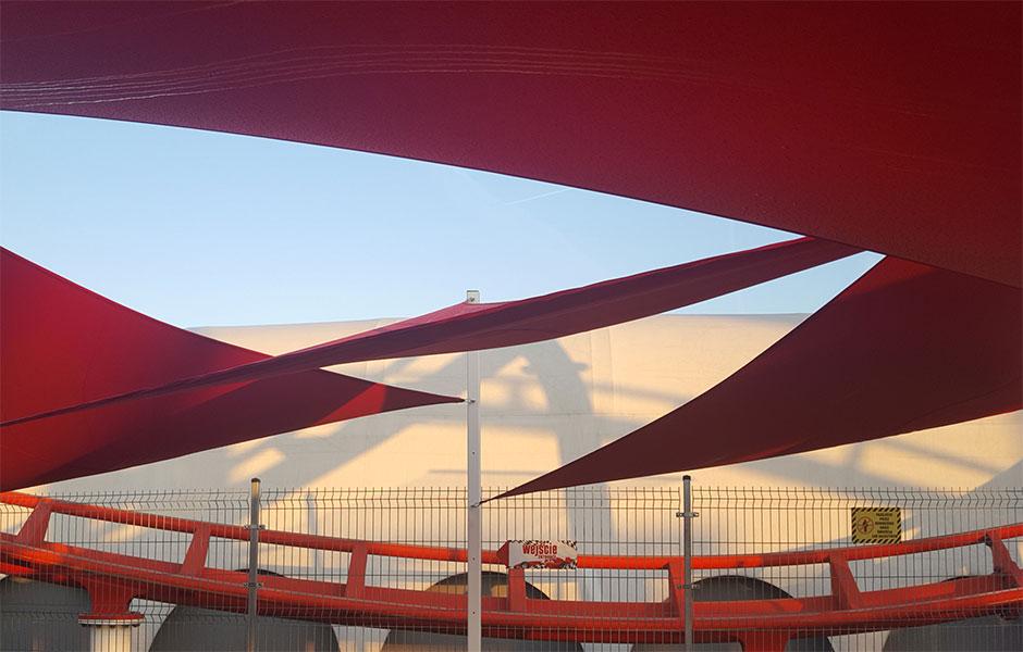 Żagle przeciwsłoneczne energylandia atrakcja F1