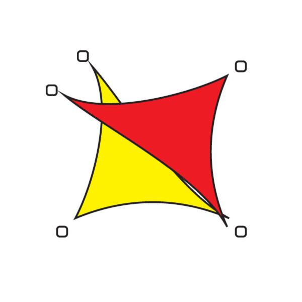 Ustawienie żagla w prostokąt z wykorzystaniem pięciu masztów