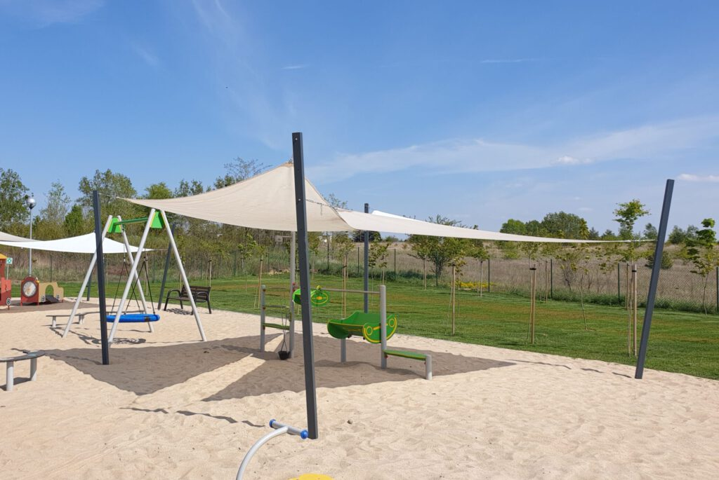 Żagle przeciwsłoneczne dla przedszkola